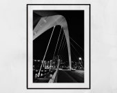 Glasgow Poster, Squinty Bridge Glasgow Photography Print, Glasgow West End Print, Finnieston Wall Art, Glasgow Print, Glasgow Picture