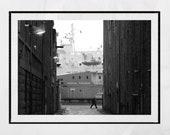 Aberdeen Poster, Ship Poster, Aberdeen Scotland, Aberdeen Photography Print, Aberdeen Harbour, Ship Picture, Ship Wall Art, Aberdeen Gift