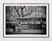 Paris Photography Print Bouquinistes Seine Booksellers Poster