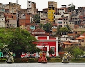 Salvador Photography, Favela, Print for Brazilian Restaurant, Extra Large Print, Brazil Wall Art, Favela Print, Favela Photo, Brazilian View