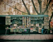 Paris Photography Print Bouquinistes River Seine Booksellers Poster
