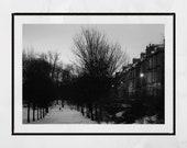 Kelvingrove Park Glasgow, Glasgow Tenements, Glasgow Print, Snow Print, Glasgow Photography Print, Glasgow Gift, Glasgow West End Print