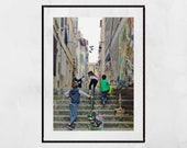 Marseille Photography Print, Le Panier Marseille Poster, Marseille Print, Children Playing, Europe Photography, Street Photography, Decor