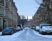 Glasgow Tenements In The Snow Photography Print