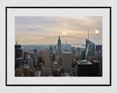 New York Skyline Print, Empire State Building Print. New York Skyline Wall Art, New York Photography Print, New York Poster, Manhattan Print