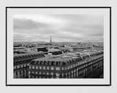 Paris Photography, Paris Print, Galeries Lafayette, Paris Skyline, Paris Photography Print, Paris Wall Art, Paris Poster, Paris Picture