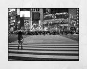 Shibuya Crossing Tokyo Photography Print, Tokyo Photography, Shibuya Poster, Tokyo Poster, Tokyo Print, Tokyo Wall Art, Tokyo Gift, Japan