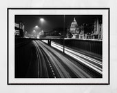 Glasgow Mitchell Library Photography Print, Glasgow Photography, Glasgow Poster, Traffic Poster, City Photography, Living Room Print