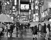 Tokyo Photography, Black And White Photography, Black And White Prints, Shinjuku Tokyo Picture, Tokyo Poster,  Tokyo Print, Wall Art
