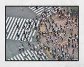 Shibuya Crossing Tokyo Photography Print, Shibuya Poster, Tokyo Wall Art, Tokyo Photography, Tokyo Poster, Tokyo Print, Tokyo Gift, Wall Art