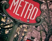 Paris Metro Poster Photography Print