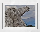 Falkirk Kelpies Scotland Photography Print