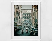 Rome Photography Print Colosseum Street Poster