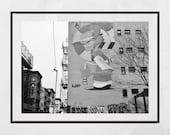 Street Art Poster, Lower East Side New York Print, New York Photography, Street Art Print, Urban Prints, Urban Photography Print, Home Decor