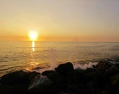 Coast Photo, Apartment Gift, Extra Large Wall Art, Sunset Print, Sunset Photo, Landscape Photography, Byblos Lebanon, Lebanon Photo