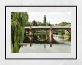 Dumfries Scotland River Nith New Bridge Photography Print Poster