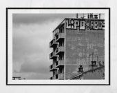 Brutalist Photography, Marseille Photography, Brutalist Architecture, Brutalist Poster, Brutalism Poster, Urban Photography, Graffiti Print