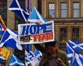 Scottish Independence Gift, Scottish Independence Referendum 2014, George Square Glasgow, Scottish Gift, Scotland Gift, Hope Not Fear, Art