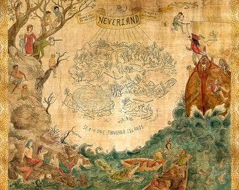 Neverland Map Etsy