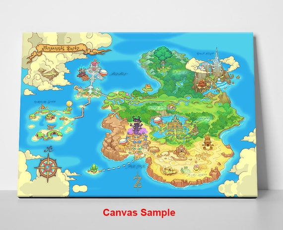 Legend Of Zelda Orcarina Of Time World Map Etsy