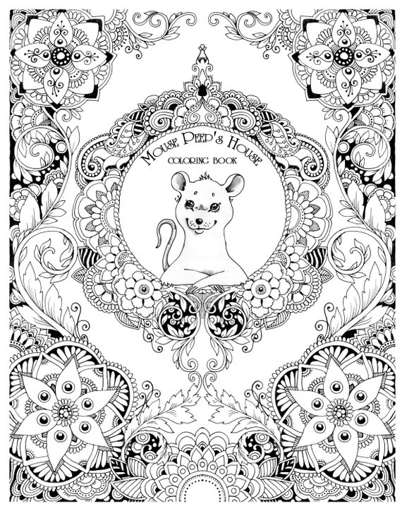 Mouse Peeps House All Ages Coloring Book Digital Pages
