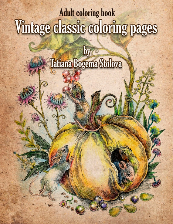 Vintage Classic Coloring Pages: Adult Coloring Book (Relaxing coloring  pages, Digital pages, Animals, Flowers, Fairies and More)