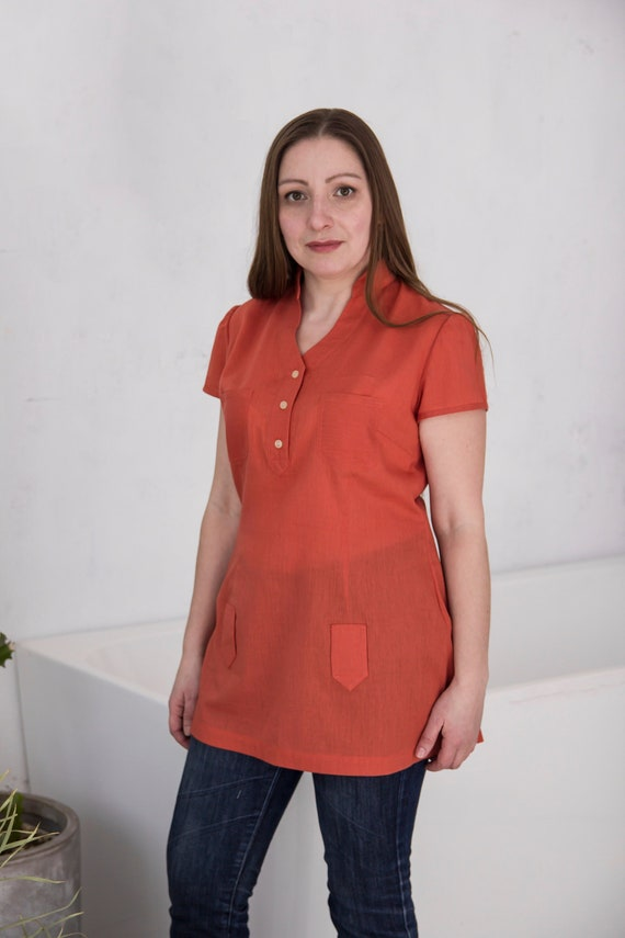 Blouse With Short Sleeves Handmade 100 Linen Top For Women Large Loose Fit Vegan Oversized Shirt Top Natural Linen Shirt Clothing Women My name is carmen but my friends call me cag. property excellence
