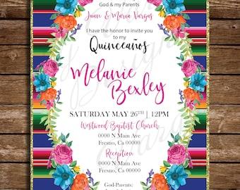 8b3157caa084 My Fifteen Mexican Theme Invite