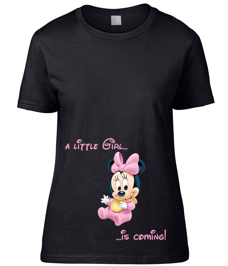 374871fcc8d99 T-SHIRT for pregnancy maternity clothing Disney Babies Minnie | Etsy