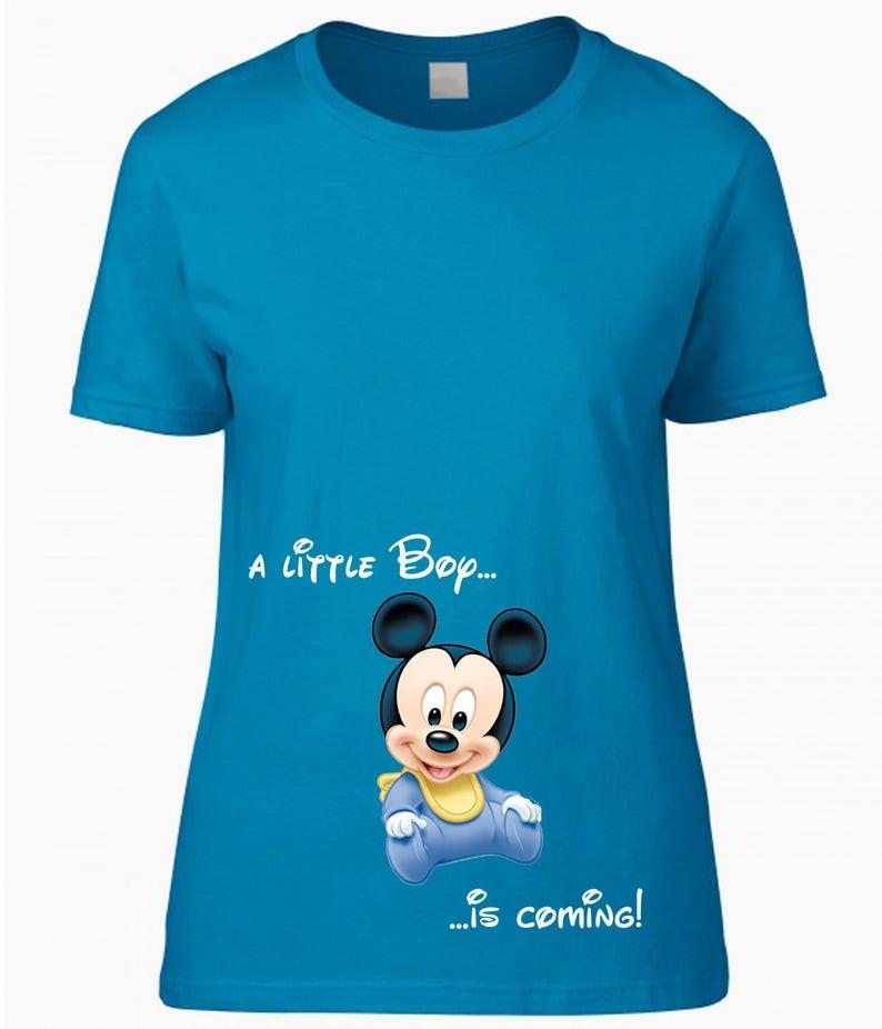 fba7343c9c8a4 T-SHIRT for pregnancy maternity clothing Disney Babies Mickey | Etsy