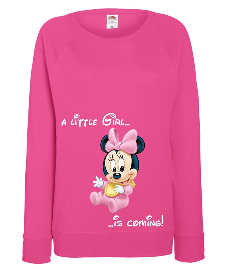 0978102854edb Sweatshirt maternity for lady pregnant Minnie Mouse a | Etsy