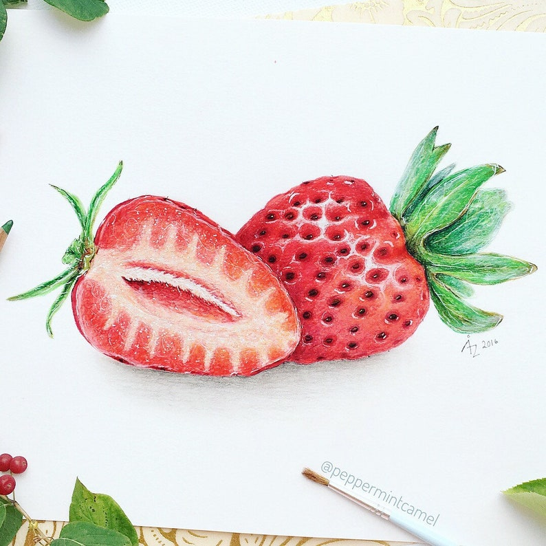 Strawberry Pictures Drawing
