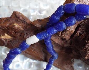 Antique African Sandcast cobalt Blue Trade beads