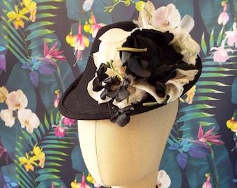 Vintage Conical Percher Hat~1940s Style Felt Percher Hat~1940s Style Conical Percher Hat
