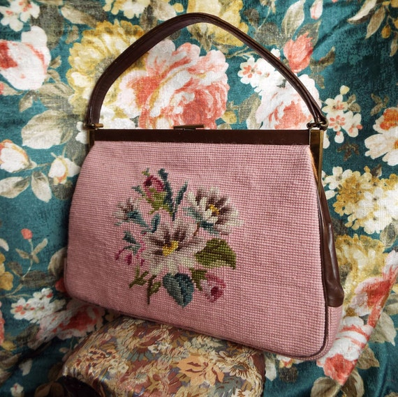 Vintage Tapestry Bag~1950s Tapestry Bag~1950s Tape