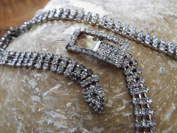 Vintage Diamante Belt~1980s Diamante Belt~1980s Rh