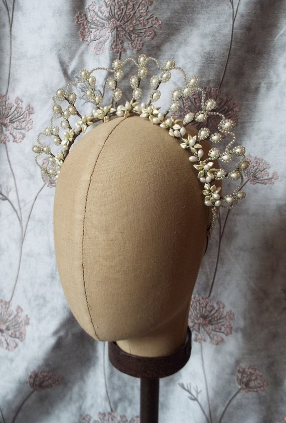 Antique Wax Flower Tiara~1920s Bridal Tiara~1920s