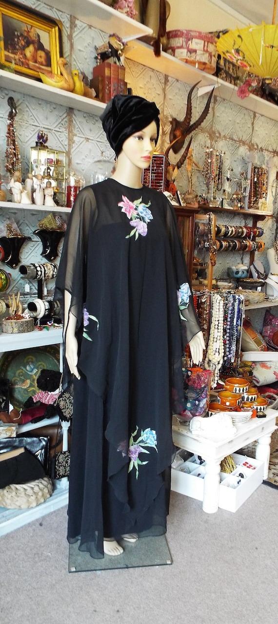 Vintage Jean Varon Dress~1970s Jean Varon Maxi Dre