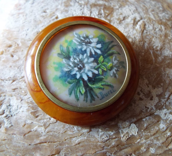 Vintage Bakelite Picture Brooch~1930s French Bakel