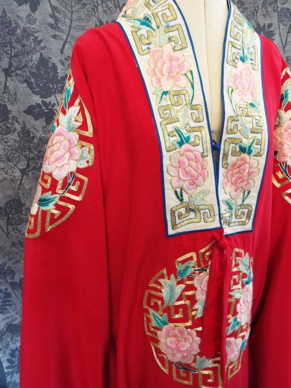 Vintage Embroidered Kimono Robe~1950sChinese Embro