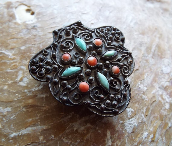 Antique Chinese Dress Clip~1910s Chinese Export Dr