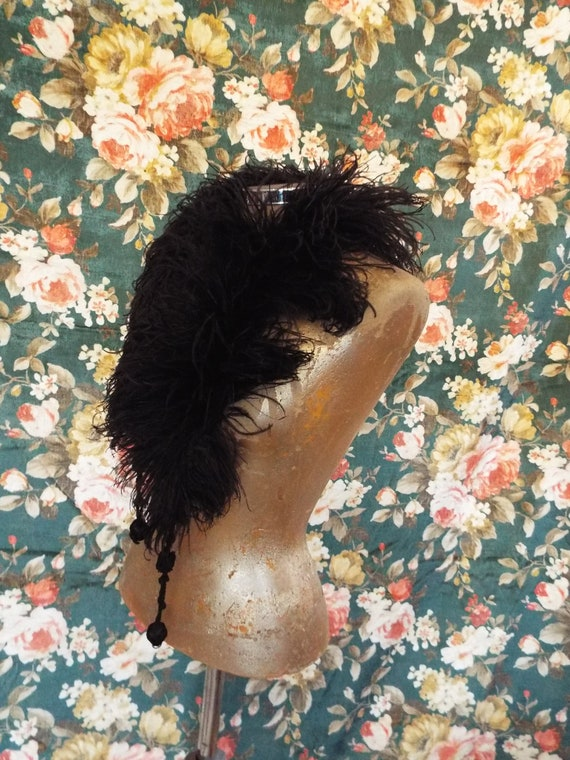 Antique Ostrich Feather Boa~1800s Ostrich Feather