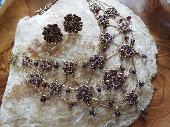 Vintage Monet Demi Parure~ Monet Festoon Necklace