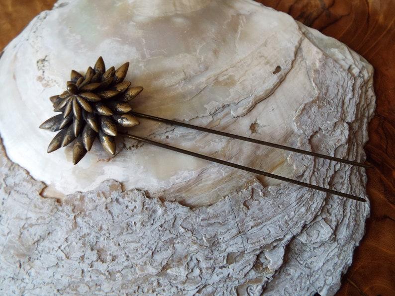 Antique Hinged Hair Pin~Victorian Hinged Hair Pin~1800s Hinged Hair Pin