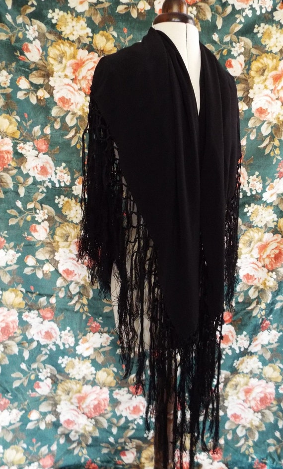 Antique Embroidered Shawl~Victorian  Embroidered,… - image 5