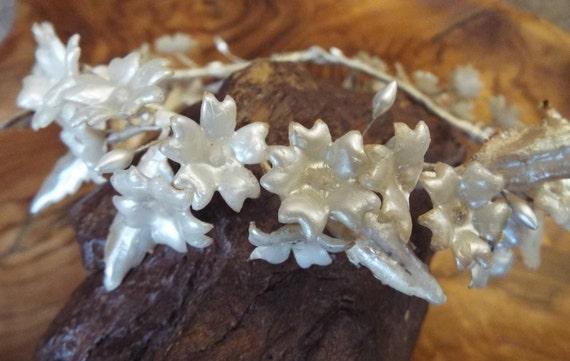 Vintage Wax Tiara~1930s Wax Flower~1930s Wax Tiara