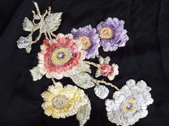 Antique Embroidered Shawl~Victorian  Embroidered,… - image 6
