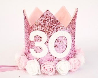 Flirty 30 30th Birthday For Her Adult Crown Woman Gift