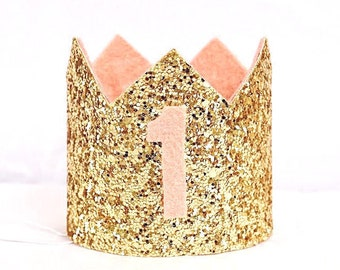 1st Birthday Girl, Rose Gold 1st Birthday Crown, First Birthday Girl, First Birthday Crown Girl, Girl Birthday Outfit, Rose Gold Decorations