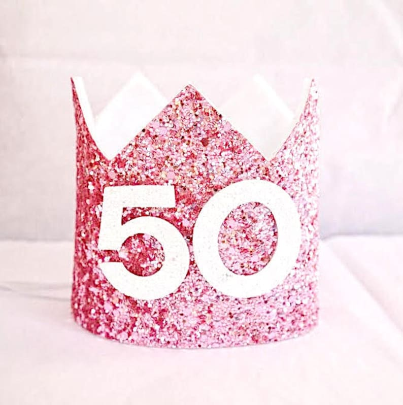 Adult Birthday Crown 50th Party Hat Turning 50 Gift For Her
